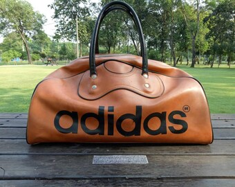 Vintage 70s Adidas Holdall Carry Gym Bag Made in Japan Bowling Athletic
