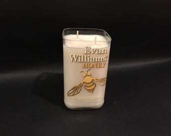 Evan Williams Candle Honey Bourbon Whiskey BOTTLE Soy Candle. 750ML. Made To Order !!