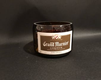 1 Liter Handcrafted Candle UP-CYCLED 1 Liter vs 750ML Grand Marnier Liqueur Soy Candle. Made To Order !!!!!!!!