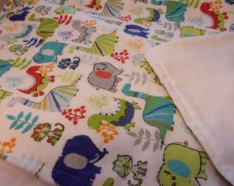 Flannel Baby Blanket Color Unisex Large Blanks 30 x 44 Inches