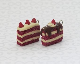 Red Velvet Cake Slice Charms