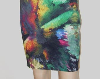 P' little pencil skirt in beautiful printed jersey