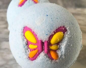Butterfly Bath Bomb - Bathbomb - Bath Fizzy - Bath Bombs - Stocking Stuffer  - Glitter Bath Bomb - Colorful Bath Bomb - Bath Fizzies