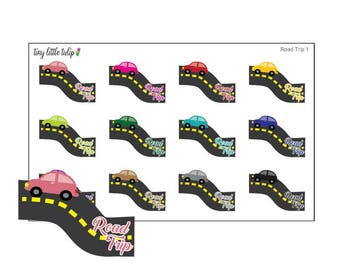 Planner Stickers Road Trip