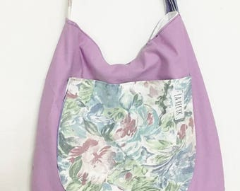 SALE BOHO vintage, unique tote bag, recycled clothing, eco-friendly style