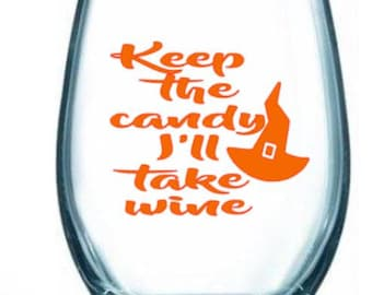 wine/glass/keep/candy/take/witch/hat/fall/harvest/halloween/funny/gift