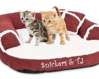 Minature pet sofa /  Personalized Pet Bed / Small pets / cats or small dogs