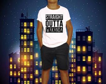 Straight outta WAKANDA | The black panther Kids Tshirt
