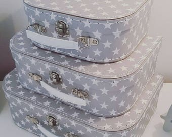 Set of 3 Nordic Star Suitcases - SBGIF059