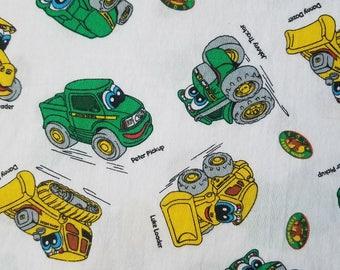 John Deere Work Vehicle Toss Cotton Fabric