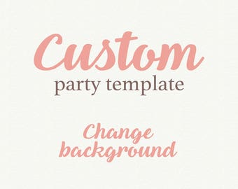 Add On Wedding Template, Party Decoration Template, Background Change, Color invitation options,  Invitation template, Wedding invitation
