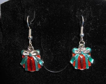 """""""Christmas gifts"""" Silver earrings"""