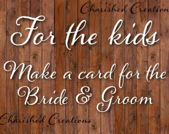 Rustic Wedding Sign, Sign for Kids Table, *INSTANT DOWNLOAD*