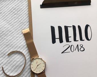Hand Pallet Ring Calendar 2018