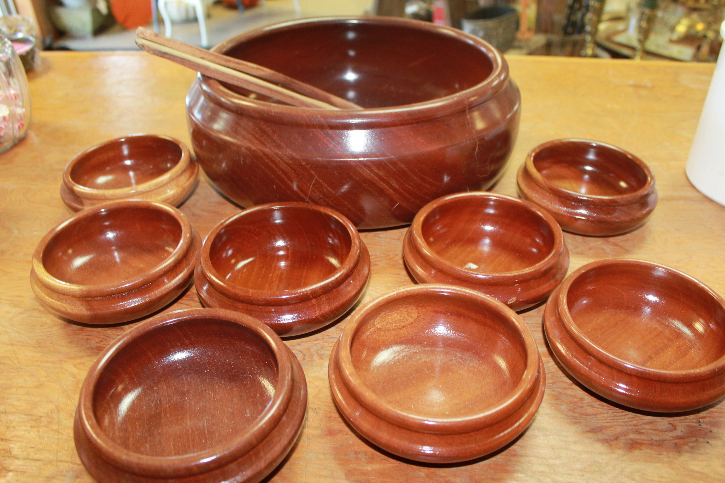 vintage wood salad bowl set salad bowl serving set vintage wood bowl set vintage wooden bowls