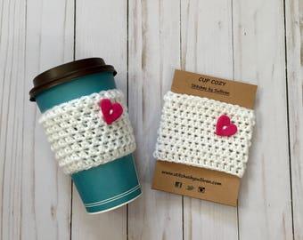 Love My Coffee Cozy, crochet coffee cozy, crochet cup cozy, crochet mug cozy, coffee cozy, cup cozy, mug cozy