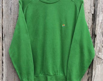 Vintage colors of benetton Embroidery small logo Sweatshirt