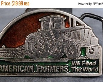 American Farmers Feed the World Small Belt Buckle