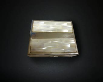 Small Box with mother of pearl lid.