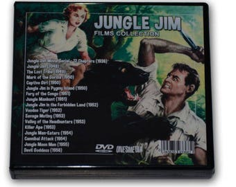JUNGLE JIM Films Collection - 10 DVD-R - 1 Movie Serial (1937) and 16 Films - 1948 - 1956