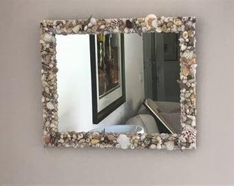 Coastal beach mirror