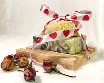 Natural soap gift, organic soap bar, soap gift set, handmade gift, gift for her, personalized gift, skin, skin care gift, natural soap dish