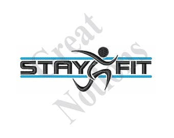 Stay Fit Runner - Machine Embroidery Design