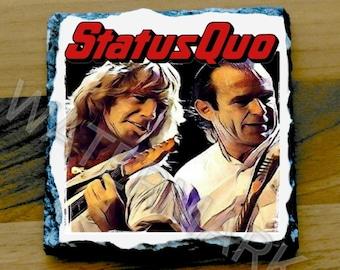 Status Quo Printed Mug Coaster Coasters . rick parfitt francis rossi . rock music