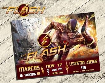FLASH,flash invitation,the FLASH birthday invitation,the FLASH party,the flash download,the flash birthday party,the flash printable,flash