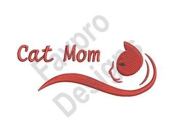Cat Mom - Machine Embroidery Design