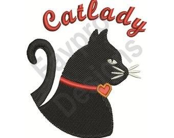 Cat Lady - Machine Embroidery Design