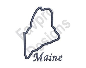 Maine Outline - Machine Embroidery Design