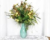 Orange Rose Flower Arrangement, Spring Silk Flower Centerpiece, Spring Decor, Spring Floral Arrangement, Spring Table Centerpiece, Orange