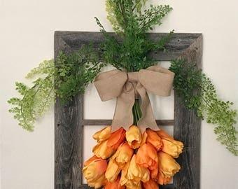 Spring Wreath ~ Easter ~ Carrot