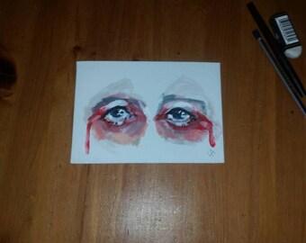 A5 canvas board eye
