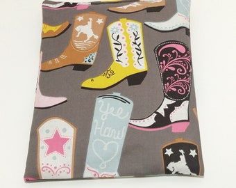 Cowgirl Boots Microwavable Heating Pad for Kids - comfort bag;heat therapy;cooling pack; square heating pad; tummy warmer; magic bag
