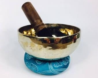 "5"" (Root Chakra) Traditional Hand Made Tibetan Sound Healing Singing Bowl - 430g ॐ"