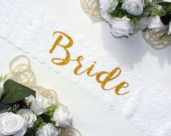 Bachelorette Sash - Bachelorette Party - Bride Sash - Bachelorette Party Sash - Bridesmaid Sash - Bride Gift - Lace Sash - Plus Size Lace