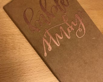 Bible Study Embossed Blank Journal