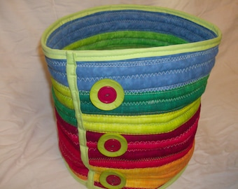 Multicolored Quilted Basket (tall)