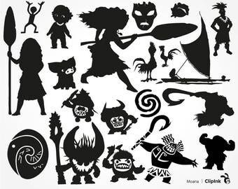 Moana svg, Moana clipart, Polynesian svg, Disney svg files, Maui silhouette, digital – svg eps png dxf pdf. Fabric Cut Print Mug Shirt Decal
