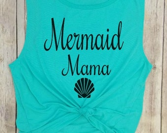 Mermaid Mama, mermaid tank, mermom tank, mother of a mermaid, mermaid birthday mom, mermaid party top, mother of mermaids, mermama tank