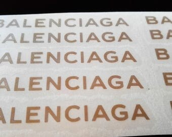 10 BALENCIAGA Stickers BALENCIAGA Decal BALENCIAGA Party Stickers Envelope seals Fashion Party Decor