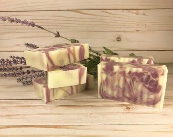 Lavender-Goats Milk-Glycerin Swirl -Soap