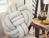 Knot Pillow, Pretzel Light Gray