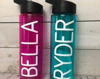 Custom Sport water bottle! Add any name or quotes you want!