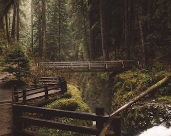 Washington Landscape Photography Prints / Sol Duc Falls / Washington Photography / Washington Print / Gift for Family and Friends