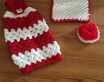 Crocheted  Kitchen Towel Set