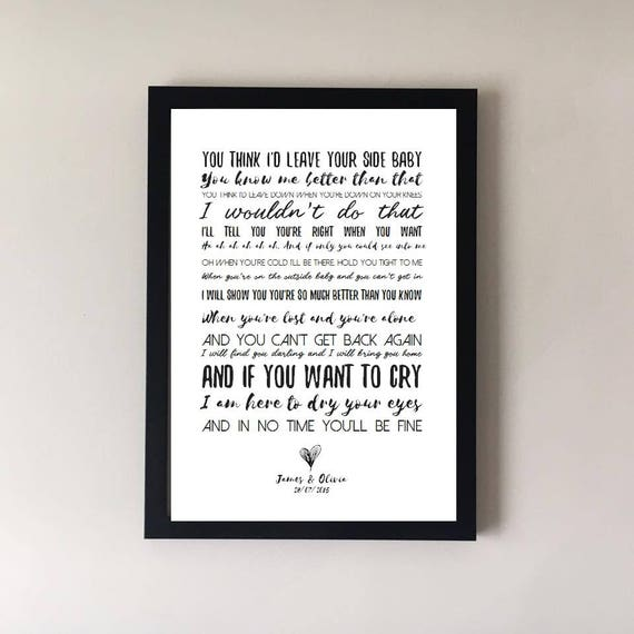 By Your Side Song Lyrics Print Sade Wedding First