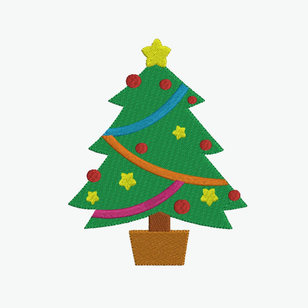 Christmas tree embroidery 8 size design instant download 8 formats this is a digital file bankloansurffo Choice Image